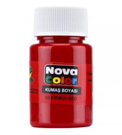 Nova Color Kumaş Boyası Kırmızı Şişe