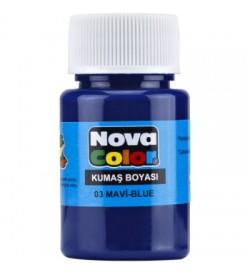 Nova Color Kumaş Boyası Mavi Şişe