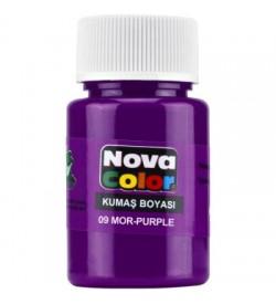 Nova Color Kumaş Boyası Mor Şişe