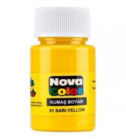Nova Color Kumaş Boyası Sarı Şişe