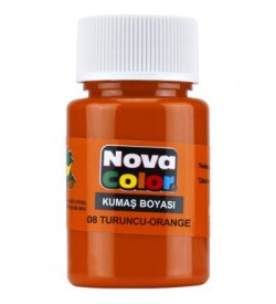 Nova Color Kumaş Boyası Turuncu Şişe