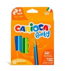 Carioca Jumbo Bebek Üçgen Kuru Boya Kalemi 10 Renk