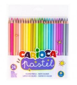 Carioca Pastel Renk Kuru Boya Kalemi 24lü