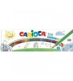 Carioca Tita Kuru Boya Kalemi Gökkuşağı Set 50li
