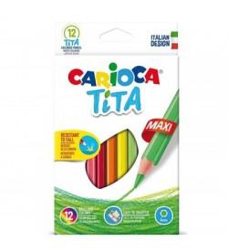 Carioca Tita Maxi Kuru Boya Kalemi 12 Renk