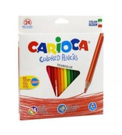 Carioca Üçgen Kuru Boya Kalemi 24lü