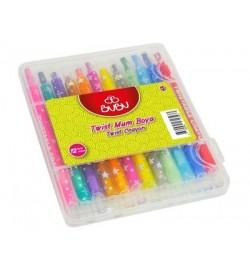 Bu-Bu 12 Renk Twıst Crayon Pvc Kutu