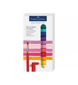 Faber Castell Gelato Mum Boya Karışık Renkler 12 Renk