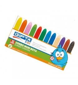 Gıpta Jumbo Mum Boya Sürgülü Karton Kutu 12 Renk
