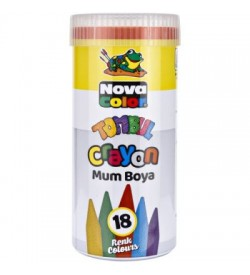 Nova Color Mum Boya Tombul 18li Tüp