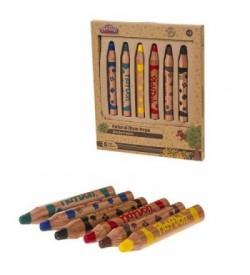 Play-Doh Crayon Naturel Kuru Boya 2in1 6 Renk