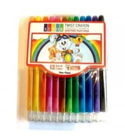 Südor Mum Pastel Boya Twist Crayon Çevirmeli 12 Renk
