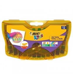 Bic Kids Yağlı Pastel Boya Sert Plastik Kutu 12 Renk