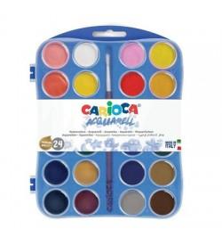 Carioca Sulu Boya 30 mm 2 Fırçalı 24 Renk