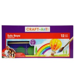 Craft and Arts Sulu Boya 12 li Küçük Tablet