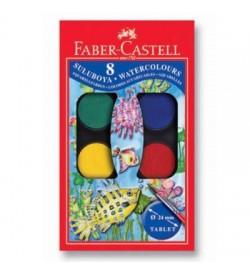 Faber Castell Suluboya 8 Renk Küçük Boy
