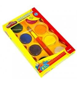 Play-Doh Jumbo Sulu Boya 8 Renk 40mm Çap