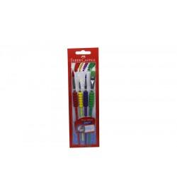 Faber Castell Soft Touch Renkli Fırça 4'lü Set