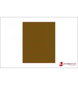 Kırmızı Yeşil Peyidepul  Baskılı Keçe