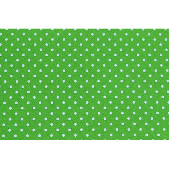 Puantiyeli Yeşil Keçe