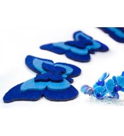 Saks Mavi Keçe Kelebek