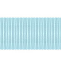 Beyaz Puantiyeli Mavi Süet Dokulu Kumaş
