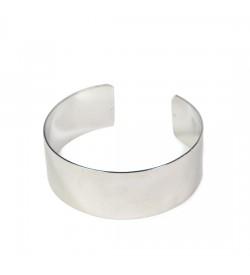 Miyuki Bilezik Kasası Parlak Gümüş 2 cm