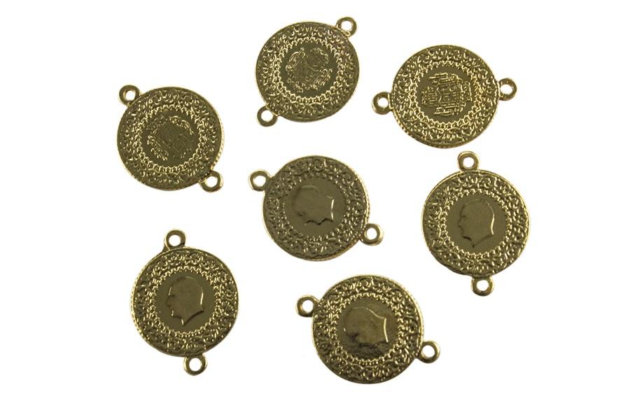 Çift Halkalı İmitasyon Metal Para