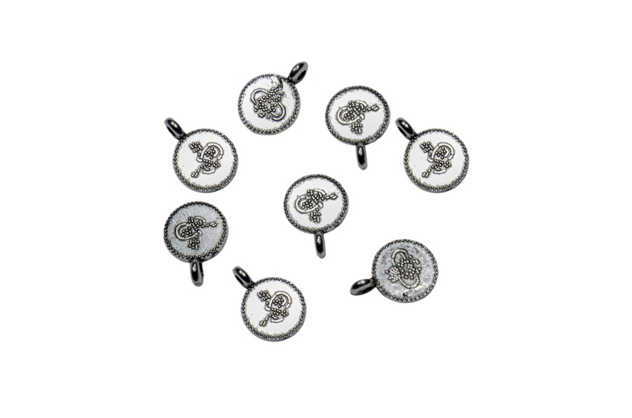 Desenli Gümüş Metal Pul Para