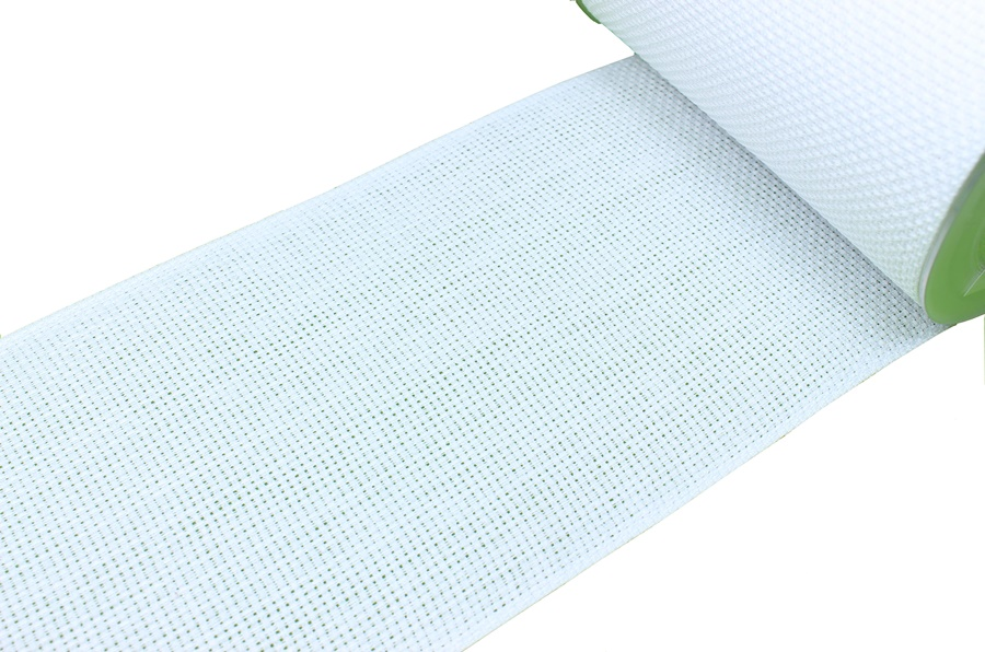 Kanaviçe Kurdelesi Beyaz 100 mm