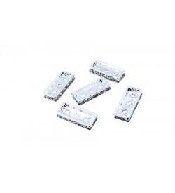 Dikdörtgen Üç Delikli Metal Aparat