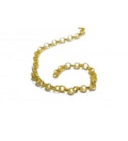Sarı Metal Top Zincir 6 mm