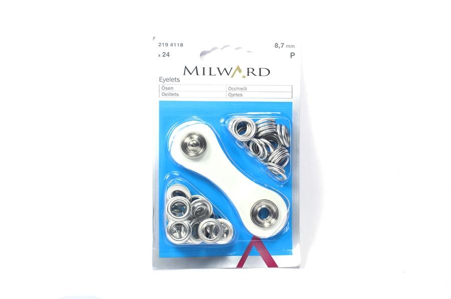 Milward Metal Kuş Gözü Halka ve Çakma Aparatı 8.7 mm