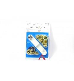 Milward Sarı Kuş Gözü Halka ve Çakma Aparatı 10.5 mm