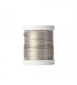Emaye Kaplı Gümüş Renk Bakır Tel -0.80
