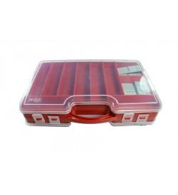 Kırmızı Renk Çift Taraflı Plastik Boncuk ve Hobi Kutusu