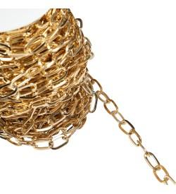 Altın Sarısı Metal Çanta ve Takı Zinciri