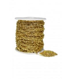 Altın Rengi Boncuklu Zincir 2 metre