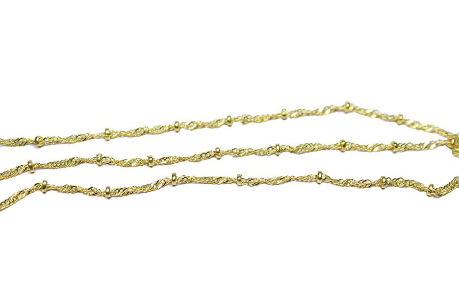 Altın Rengi Rondela Aparatlı Zincir