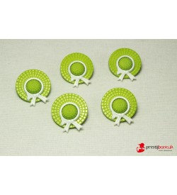 Dekoratif Düğme - Yeşil Şapka 5 Adet
