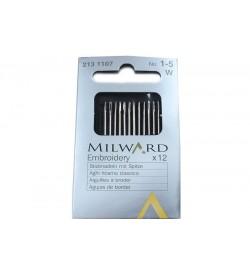 Milward Çelik Nakış İğnesi No:1-5