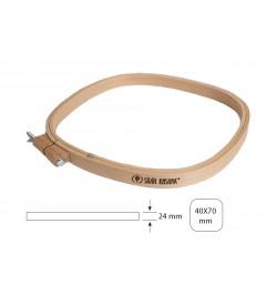 Şirin Kasnak Ağaç Bağlantılı Oval Nakış Kasnağı 210-40x70 cm