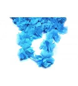 Koyu Mavi Şifon Çiçek
