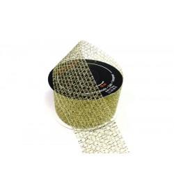 Altın Rengi 4 cm Simli Örgülü Kurdele - 40310