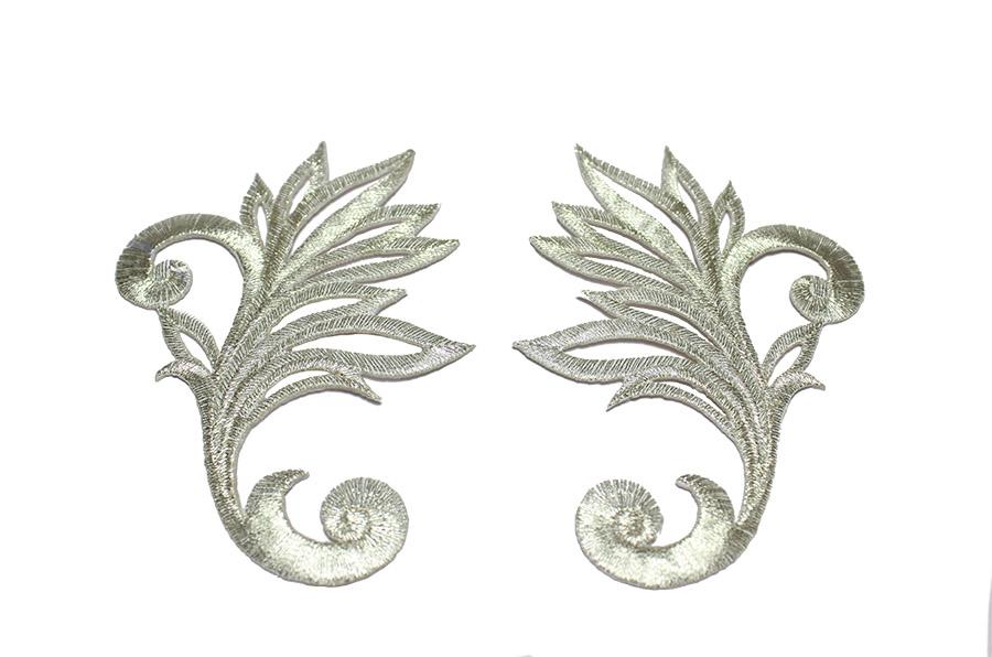 Sim Aplik Çifti Gümüş 03