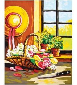Çiçek Sepeti Goblen Seti
