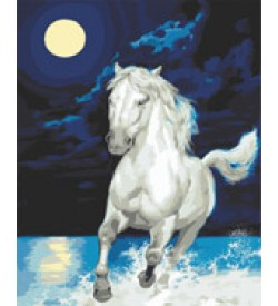 Beyaz At Goblen Seti