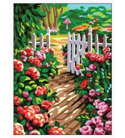 Çiçek Bahçesine Giriş Goblen Seti