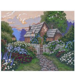 Çiçek Bahçeli Ev Goblen Seti