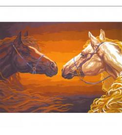 Bakışan Atlar Goblen Seti